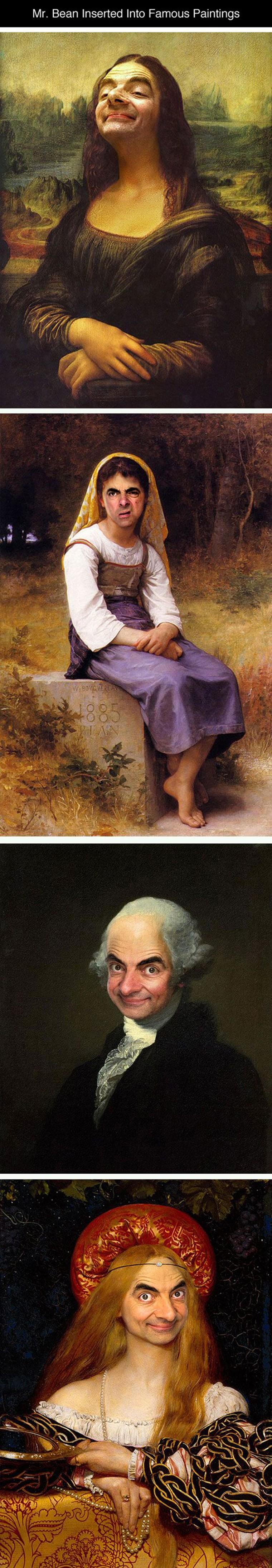 mr bean et les peintures celebres