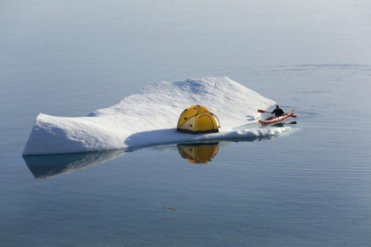 camping sur un iceberg