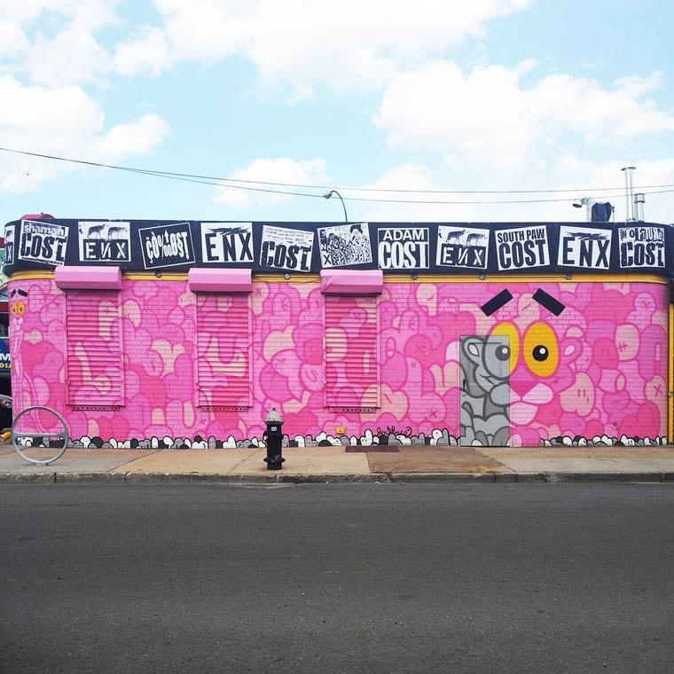 jerkface street art la panthere rose