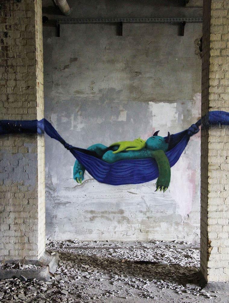 Monzter Kim Kwacz street art