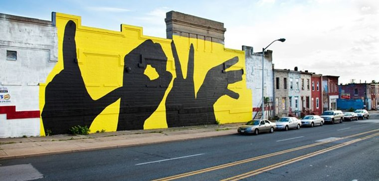 street art baltimore love