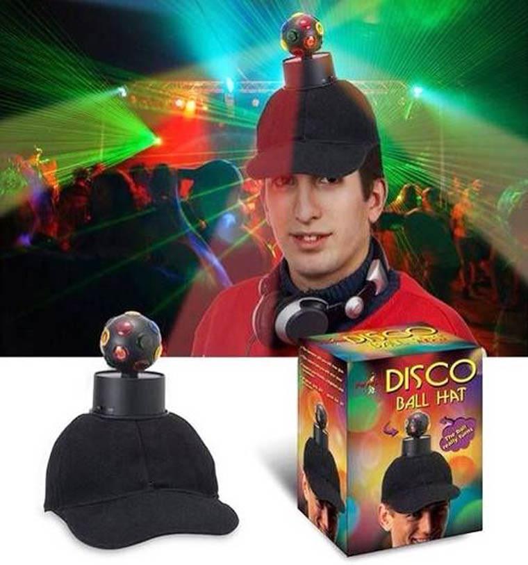 une boule disco chapeau