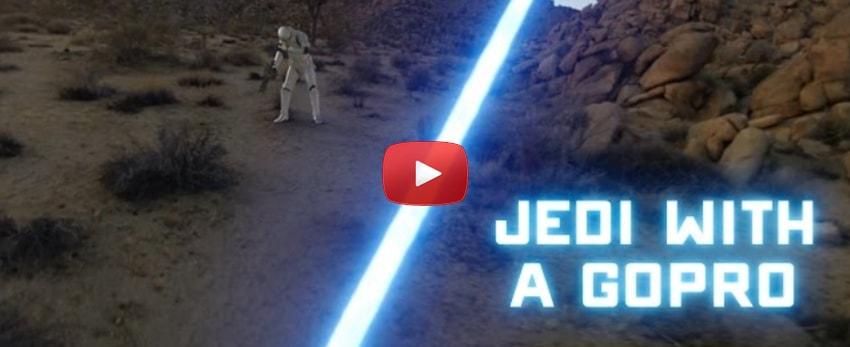 Un jedi se film avec sa GoPro et va combattre un escouade de Storm Troopers !