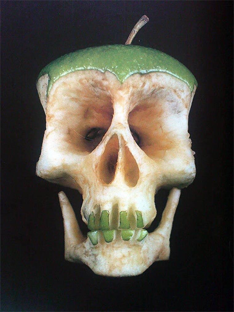 pomme crane de squelette