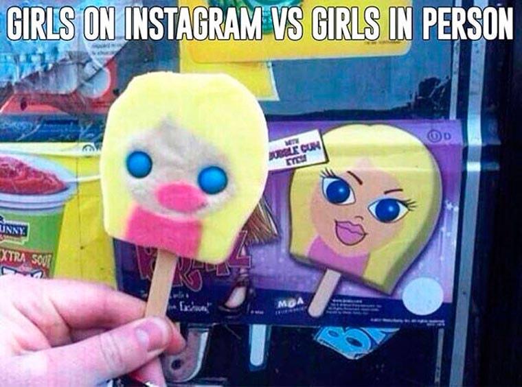 les filles sur instagram vs la realite