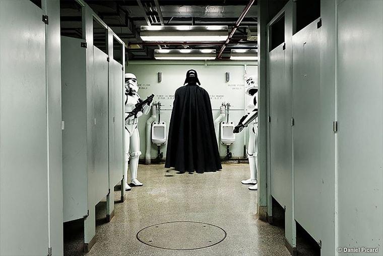 star wars vador aux toilettes