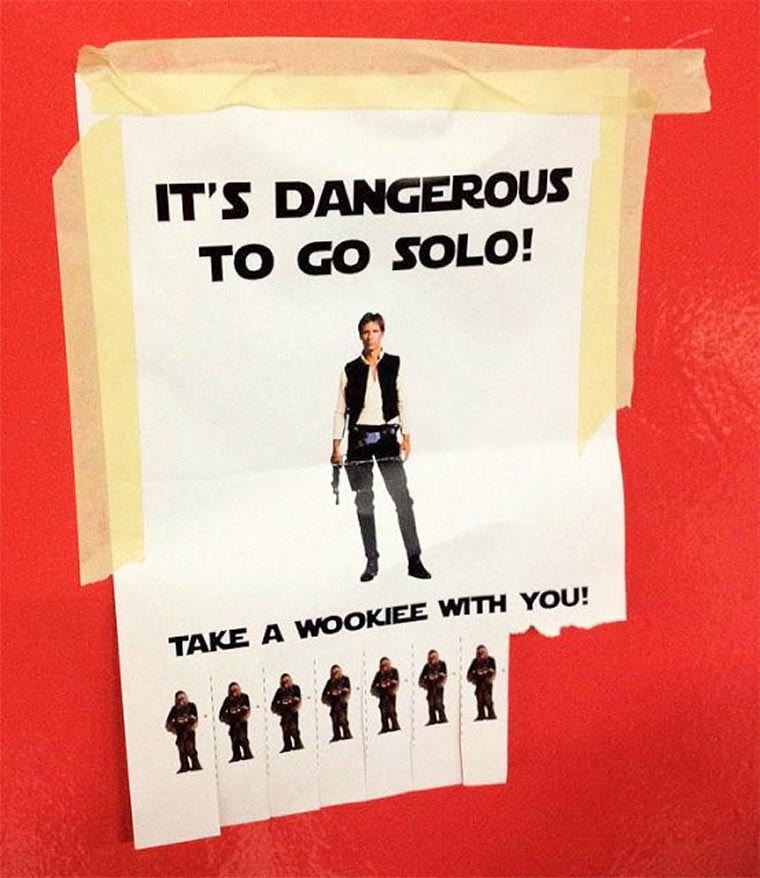 it s dangerous to go solo wookie starwars