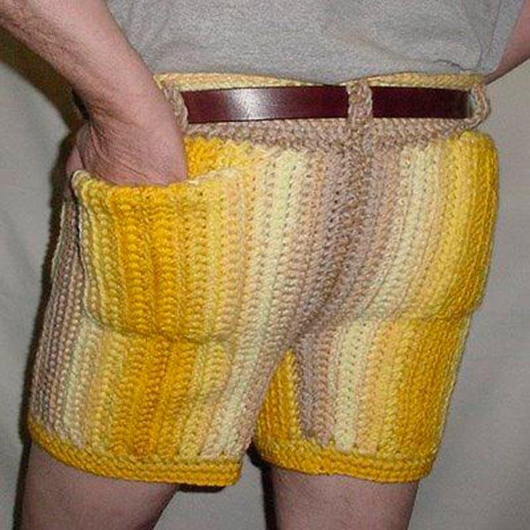 short en jean non un tricot de short