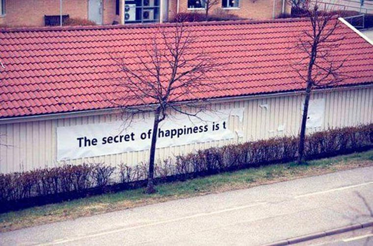 the secret of hapiness is