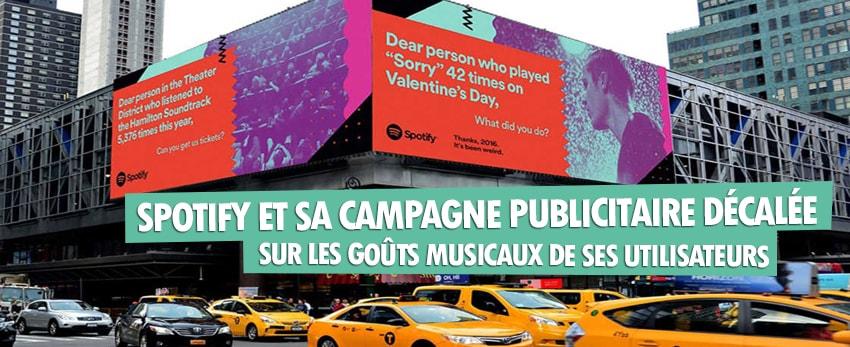 Spotify : sa campagne publicitaire amusante pour cette fin d'année !