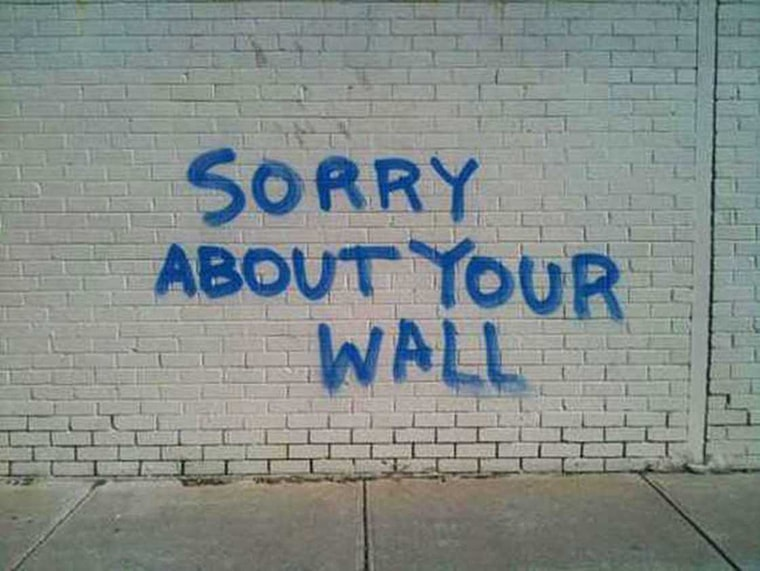 desole pour votre mur