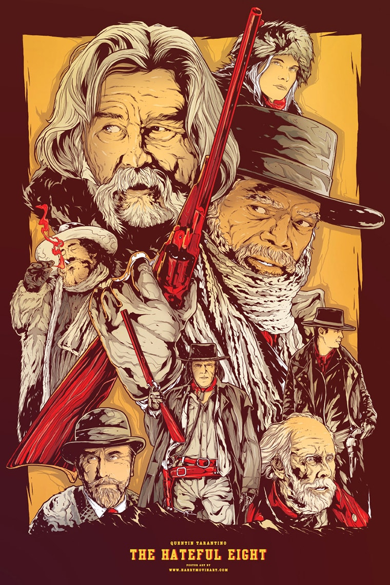the hateful eight les 8 salopards poster