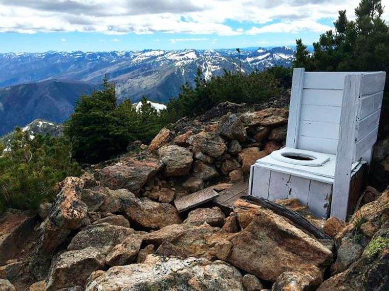 toilettes en plein air