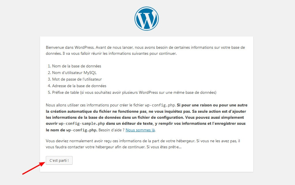 05 Commencer installation wordpress