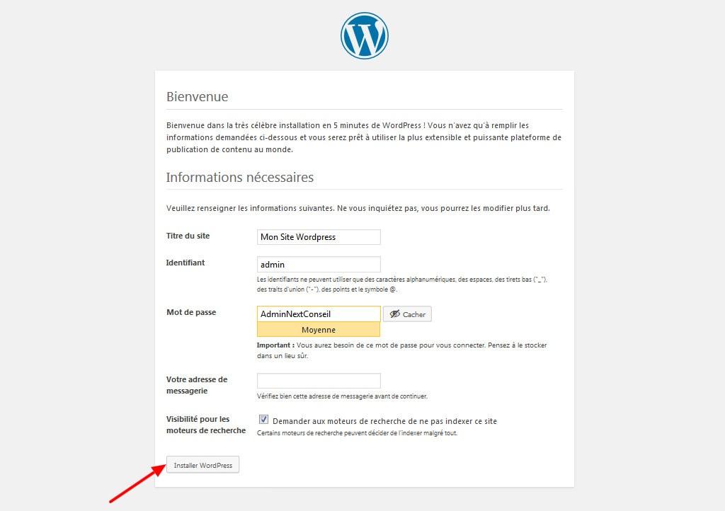 08 Configurer votre compte wordpress
