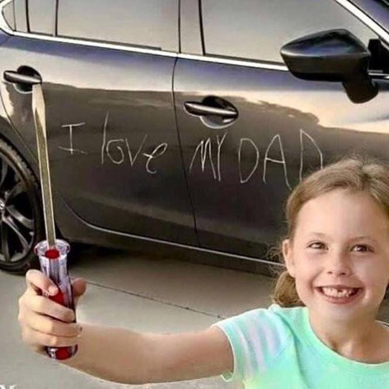 poeme petite fille a son papa