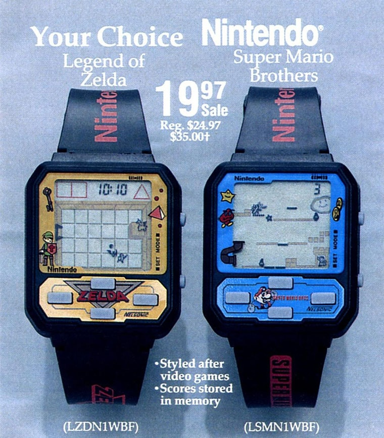 retro watch game nintendo zelda or mario