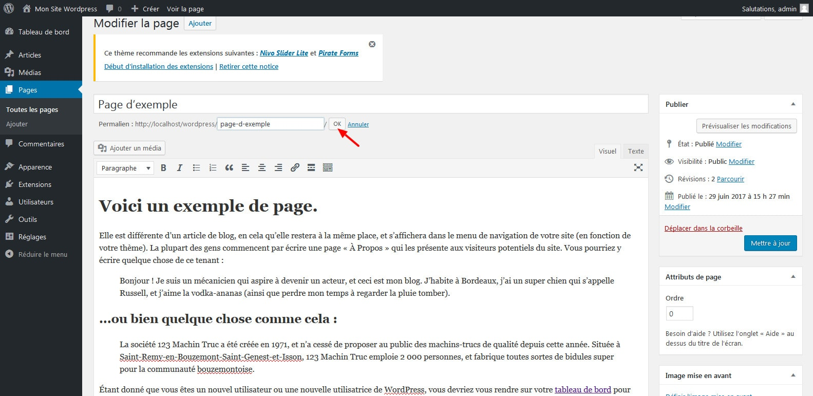 03 changer le permalien page wordpress