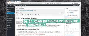 04 ajouter des pages sur wordpress