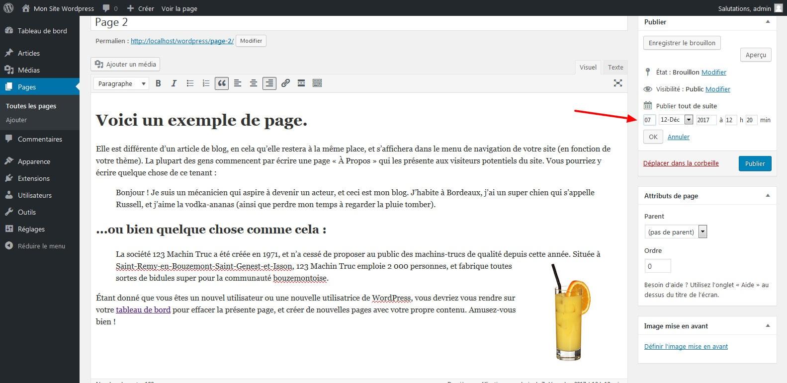 11 planifier sa publication wordpress