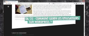 gerer les utilisateurs wordpress