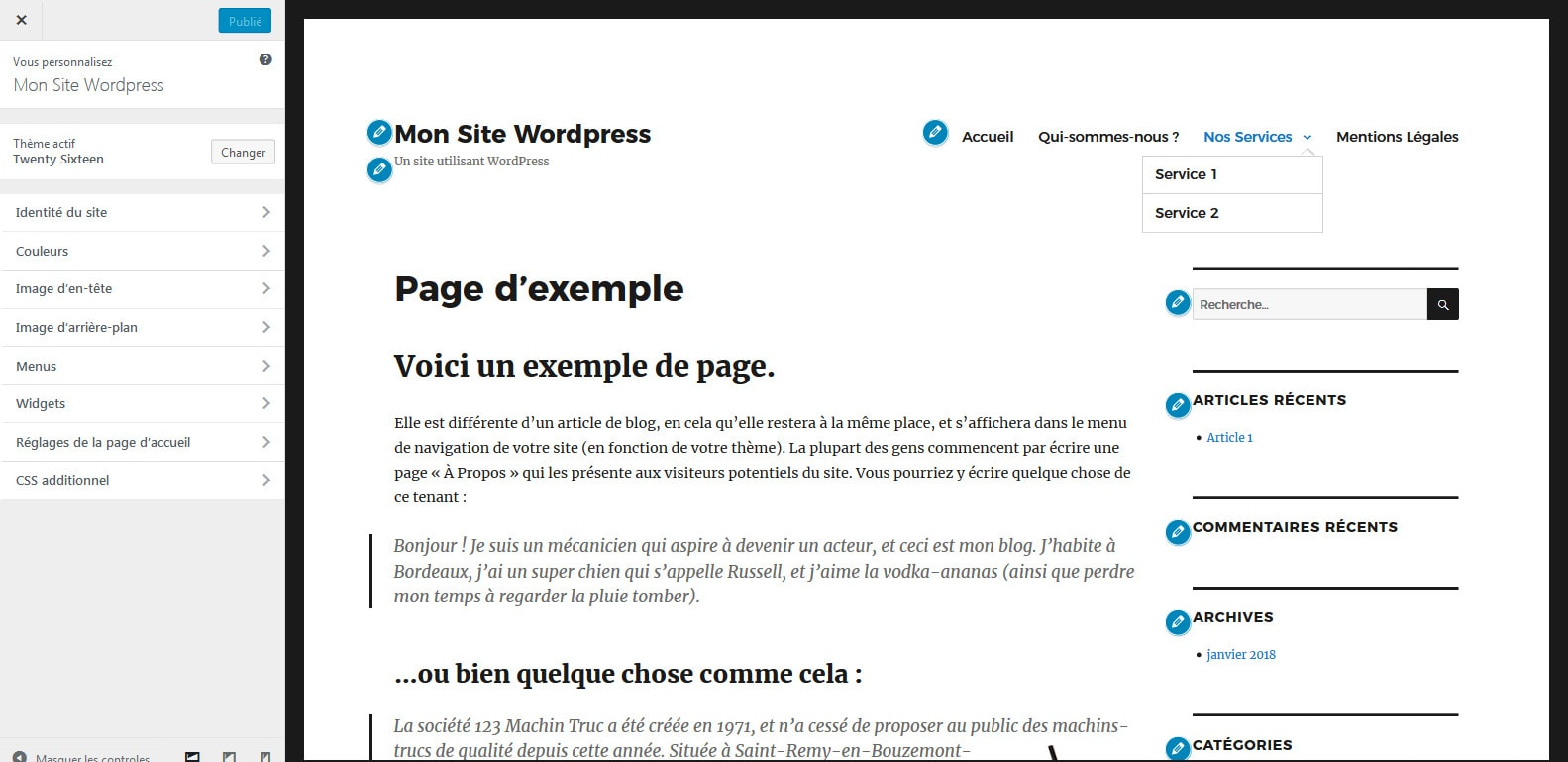 01 reperer le menu wordpress