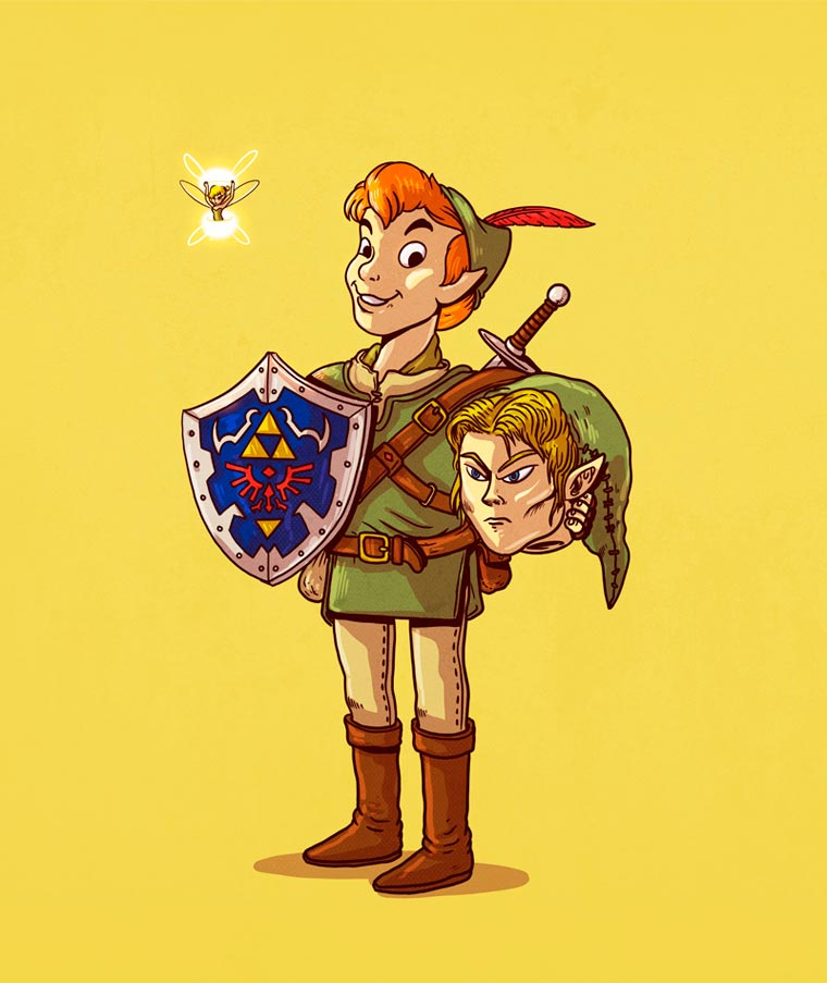 Alex-Solis-peter-pan-link-zelda
