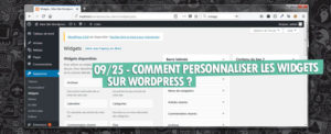 personnaliser widgets wordpress