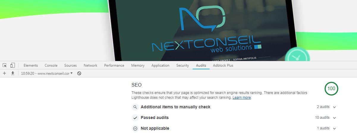 Chrome outil developpement web rapport ameliorer performance site internet