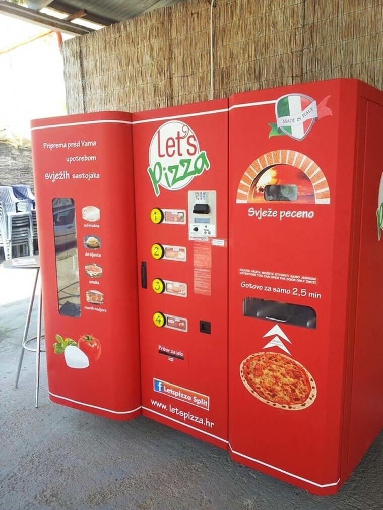 distributeur de pizza