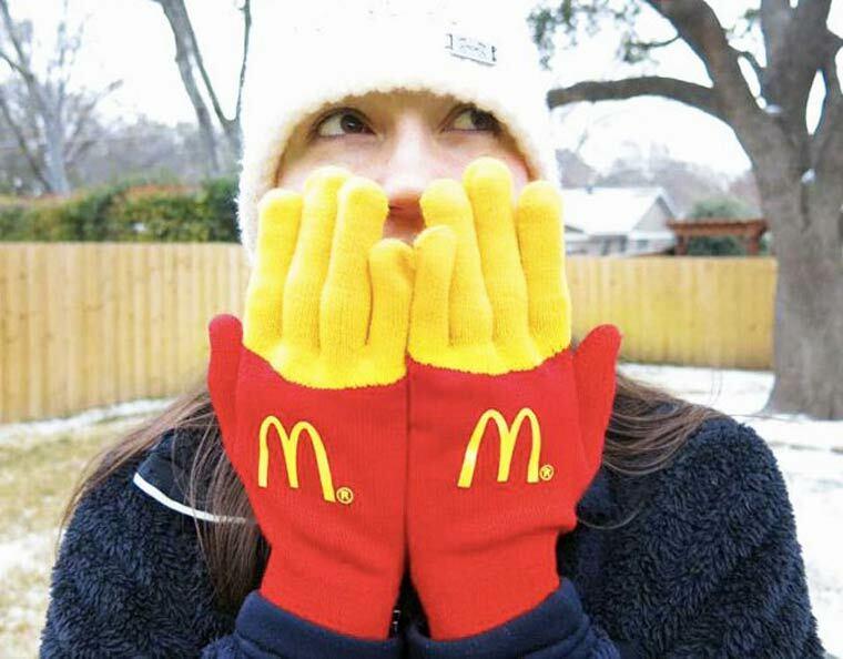 gants mcdonald frites