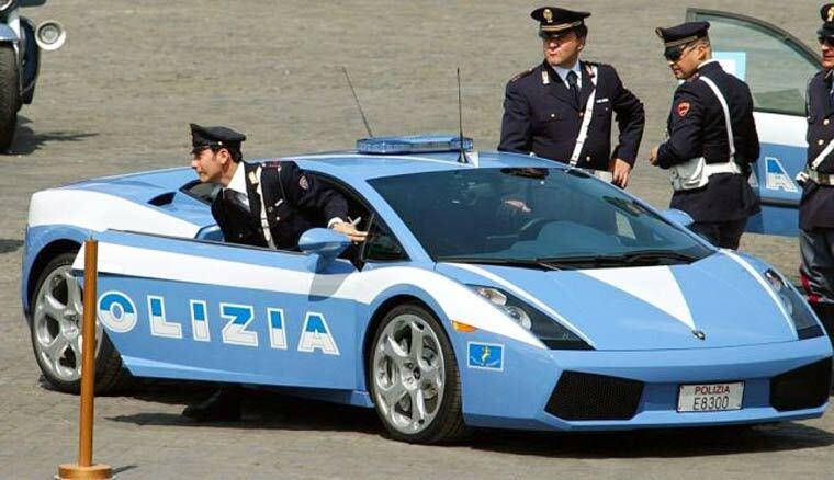 police italienne lambo