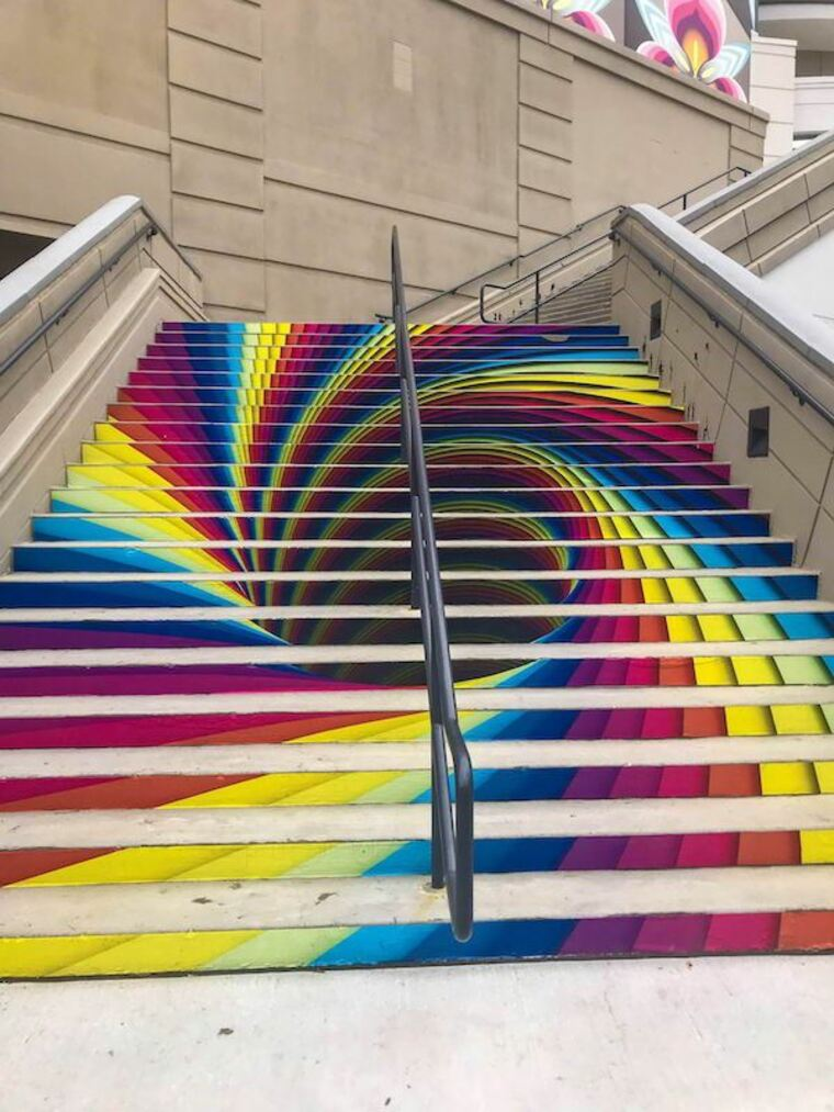 street art escalier