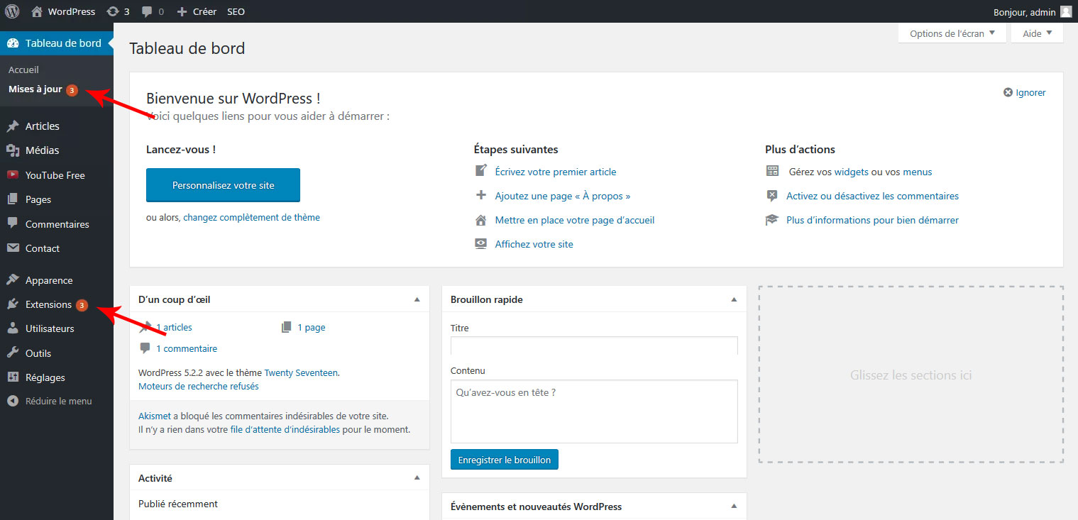 12 mettre a jour extension wordpress