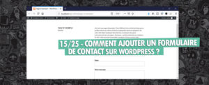 ajouter contact form 7 wordpress gutenberg
