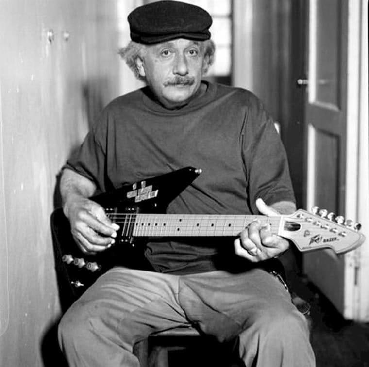 #Music - Albert Einstein ancien hardrocker