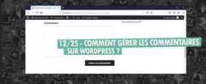 gerer les commentaires sur wordpress