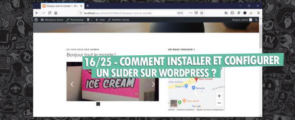 installer configurer slider wordpress