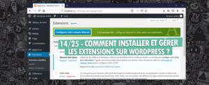 installer gerer extensions wordpress
