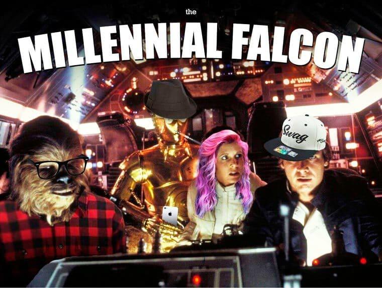 millenial falcon starwars