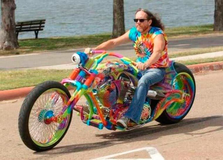 motard hippie