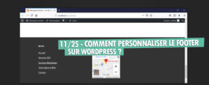 personnaliser footer wordpress