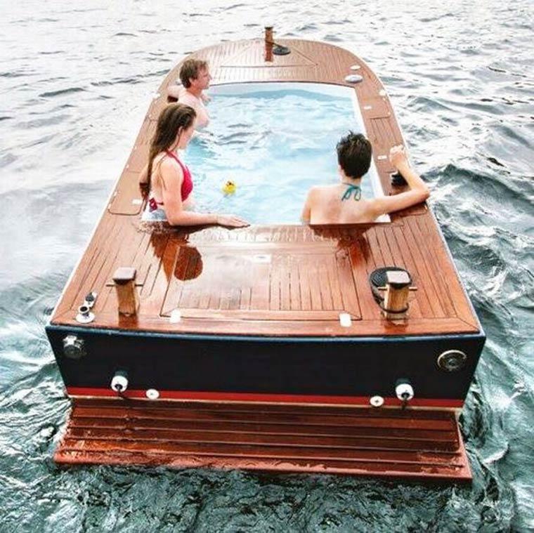 innovation le bateau jacuzzi