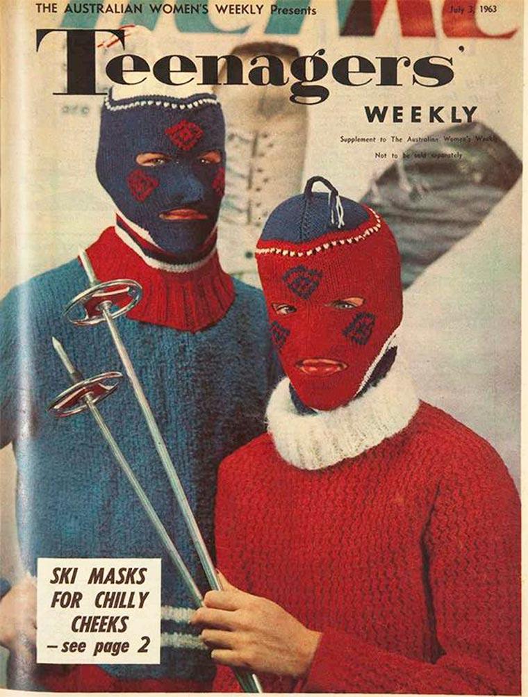 Masque en laine braquage au ski