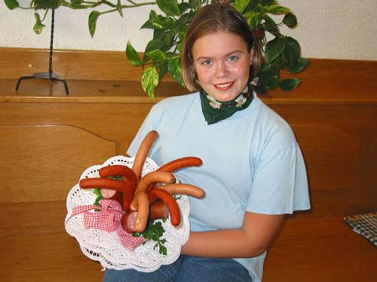 offrir un bouquet de saucisses
