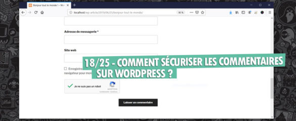securiser commentaire google recaptcha wordpress