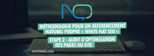 Étape 2 - Audit d'optimisation des pages du site