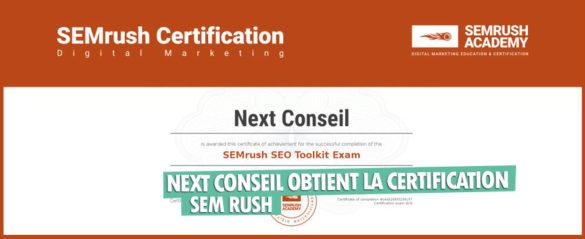 Nextconseil Certification Sem Rush Seo