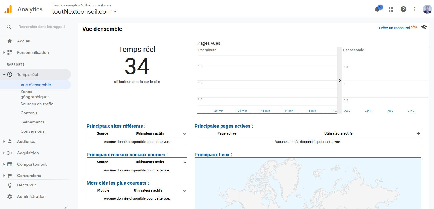 06 Consulter Visites En Temps Reel Google Analytics Pour WordPress