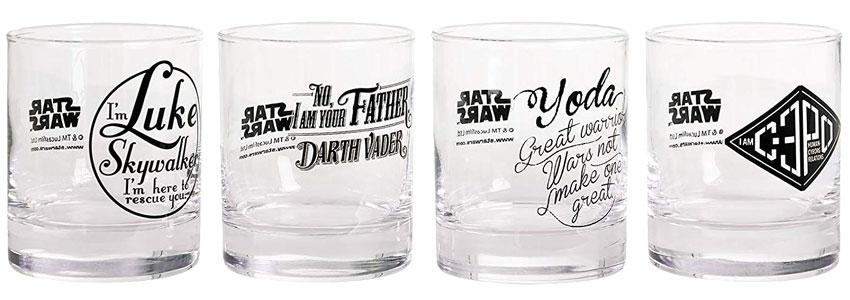 Cadeau Saint Valentin Verres Whisky Star Wars
